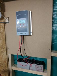 Solar charge controller mounted